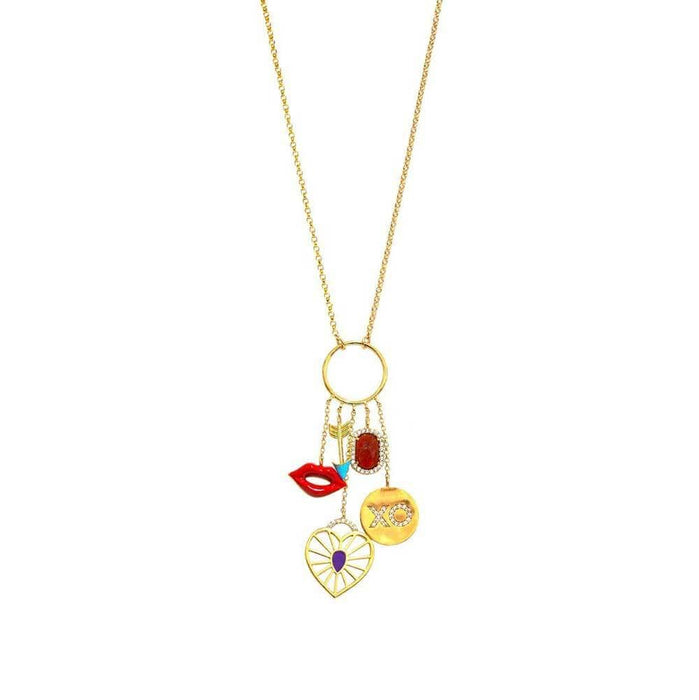 Glam Charm Necklace by Tai Jewelry - MILK MONEY