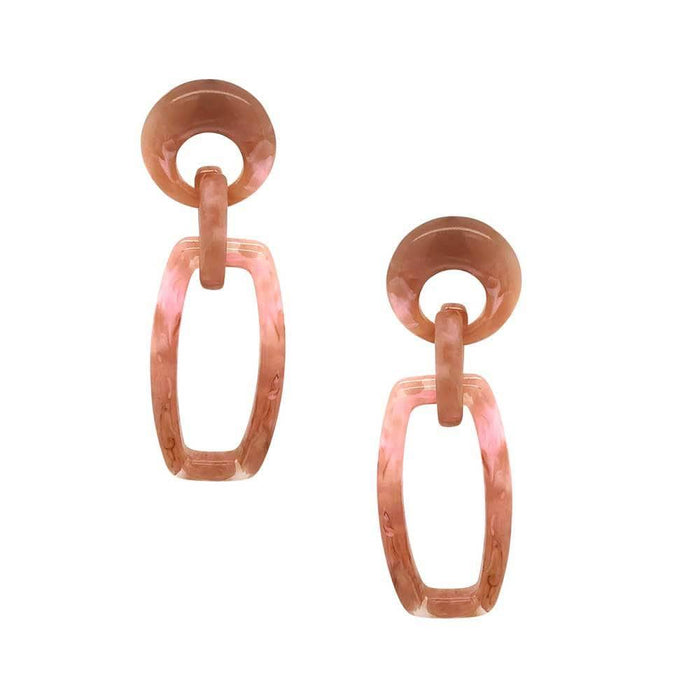 Harper Resin Drop Earrings Dusty Rose - MILK MONEY