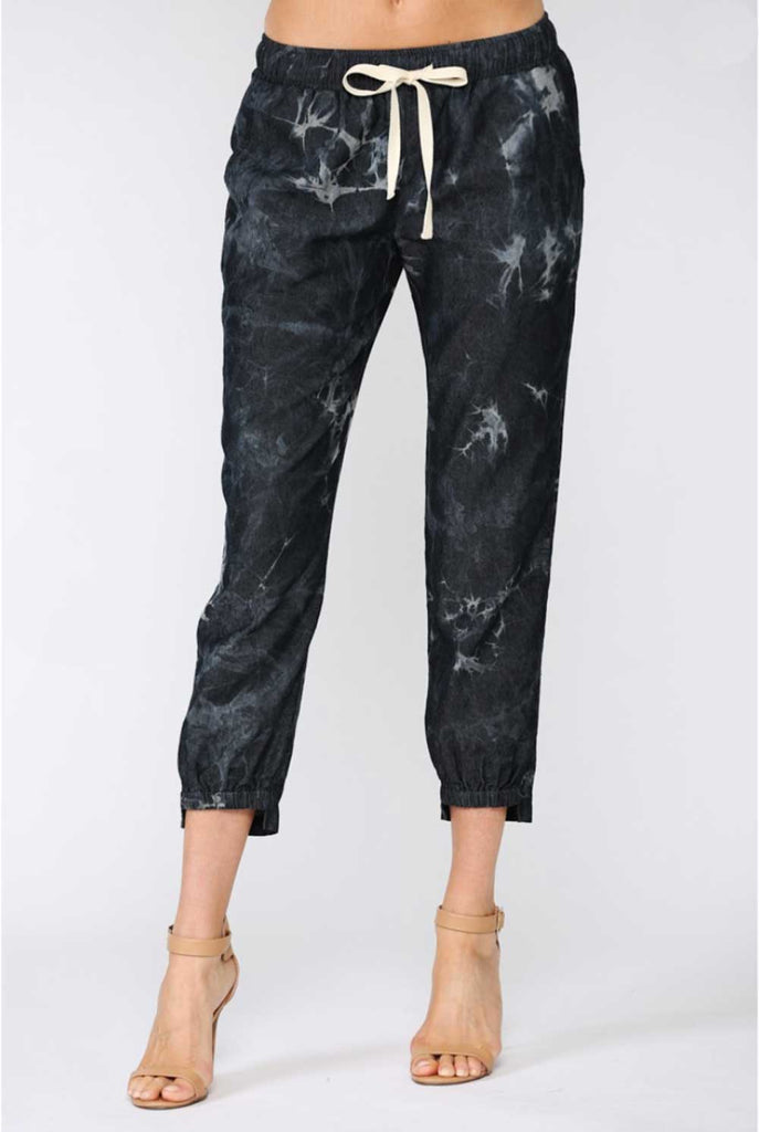 Harper Tie Dyed Joggers black MILK MONEY