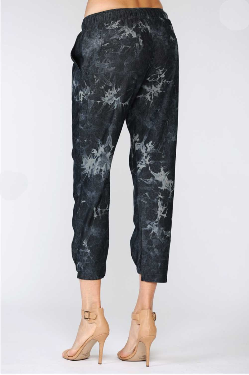 Harper Tie Dyed Joggers black back MILK MONEY