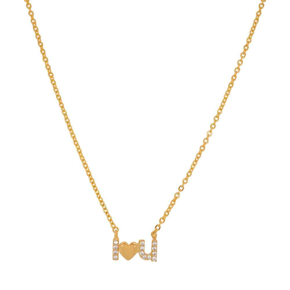 I Love You Charm Necklace gold MILK MONEY