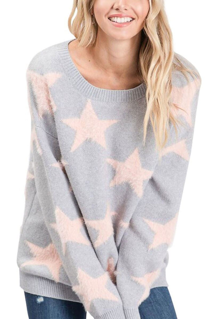 Indie Starry Sweater grey MILK MONEY