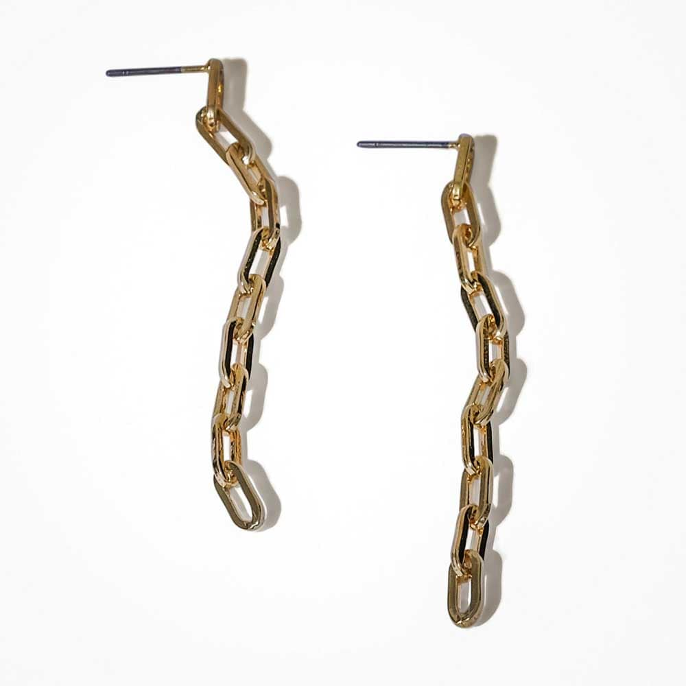 Isabelle Link Chain Earrings Gold - MILK MONEY
