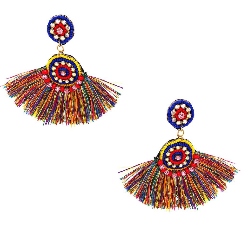 Isla Multi-Colored Fringe Earrings