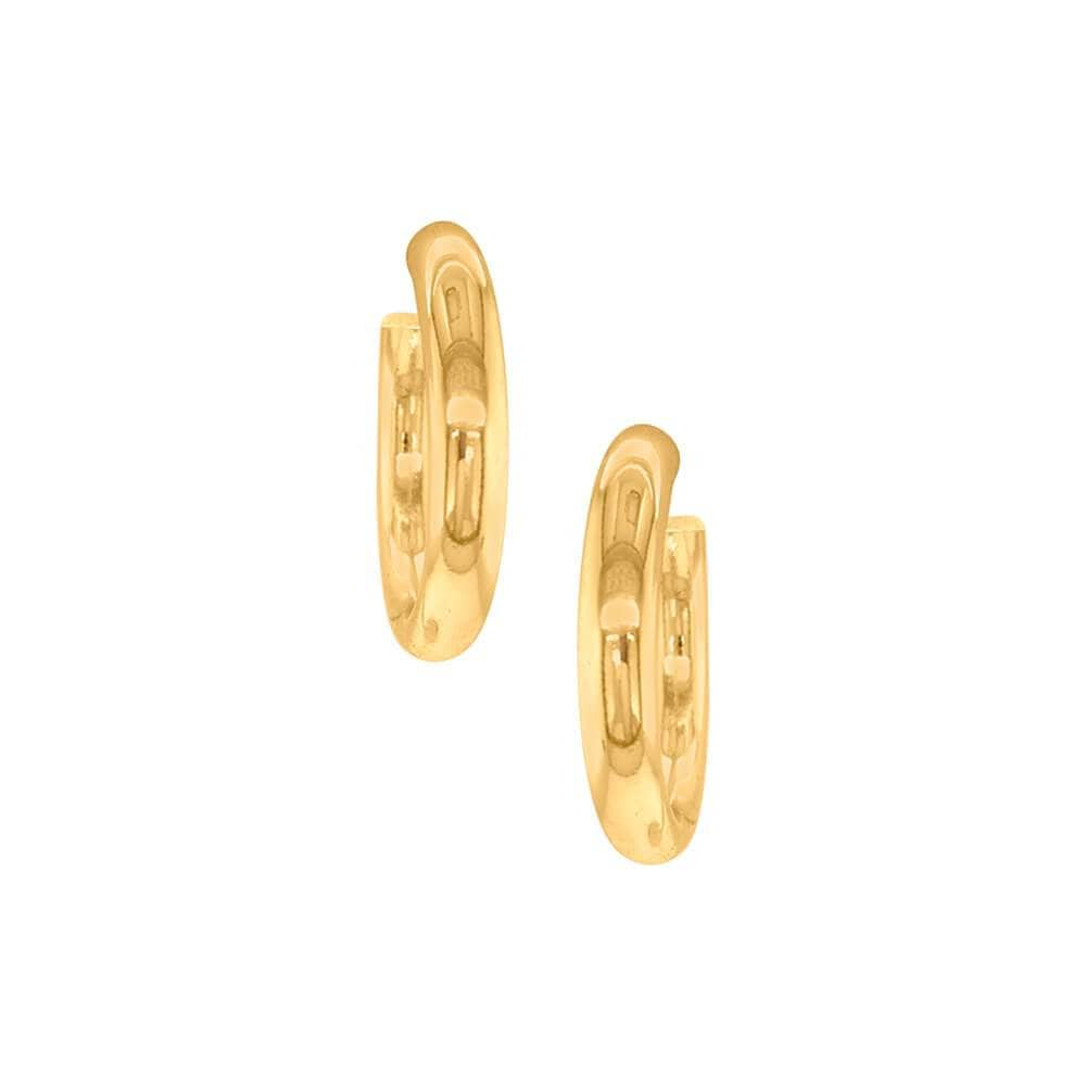 Jak Thick Hoop Earrings Gold front MILK MONEY