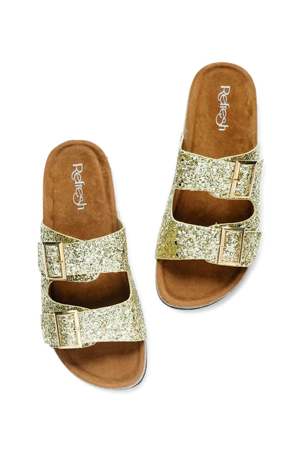 Janey Glitter Birk Sandals gold MILK MONEY