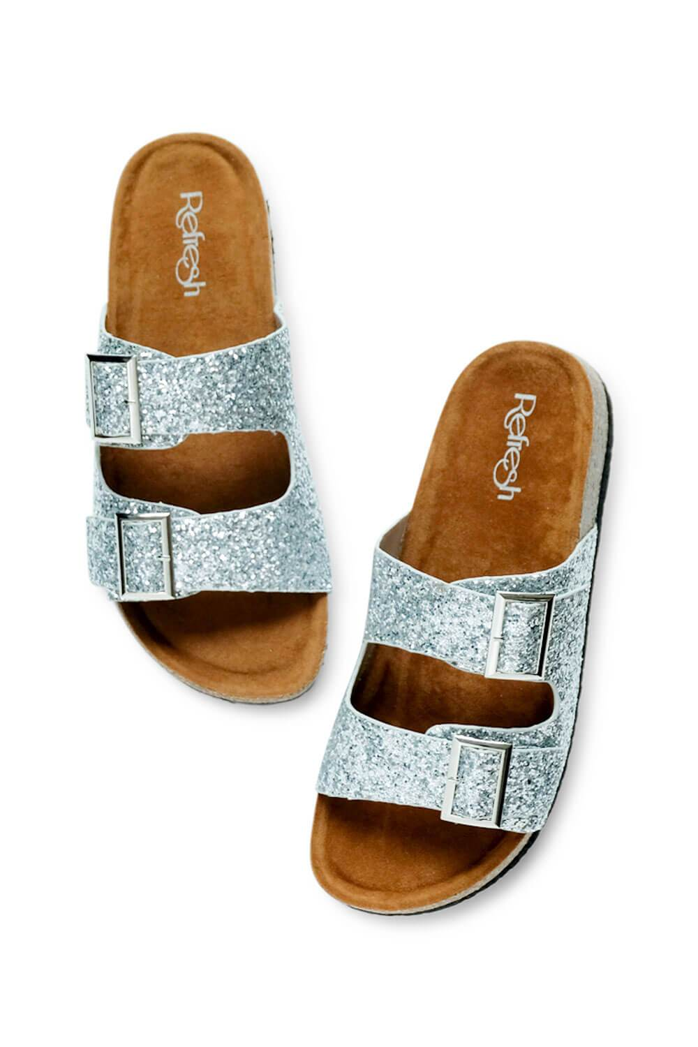 Janey Glitter Birk Sandals silver MILK MONEY