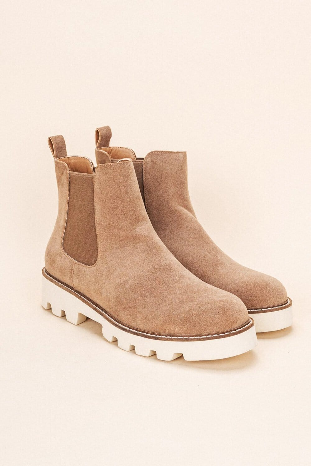 Jessie Chunky Sole Chelsea Boot latte double side MILK MONEY