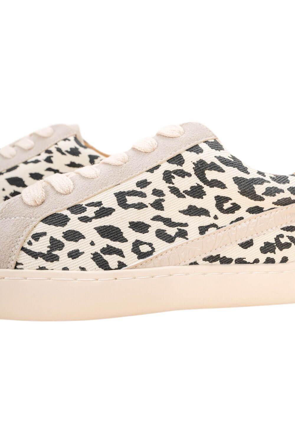 Jordan Leopard Low Top Sneaker beige side detail MILK MONEY