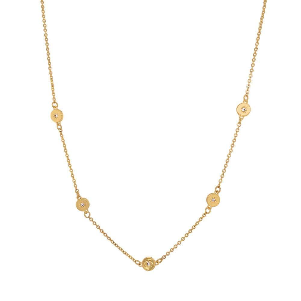 Juliet Crystal Celestial Layer Necklace gold MILK MONEY