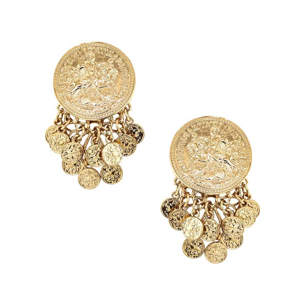 Juliette Gold Coin Chandelier Earrings - MILK MONEY