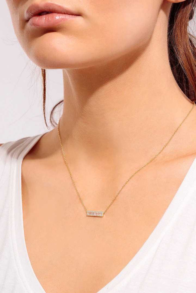 Baguette Bar Layering Necklace