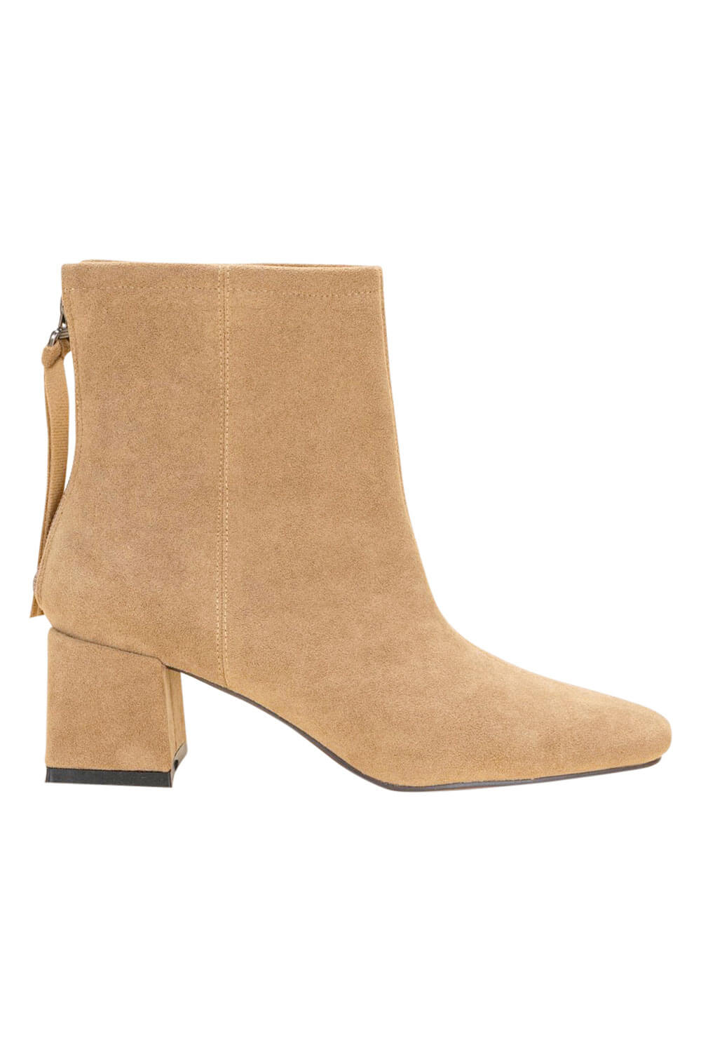 Kadee Square Toe Block Heel khaki side MILK MONEY