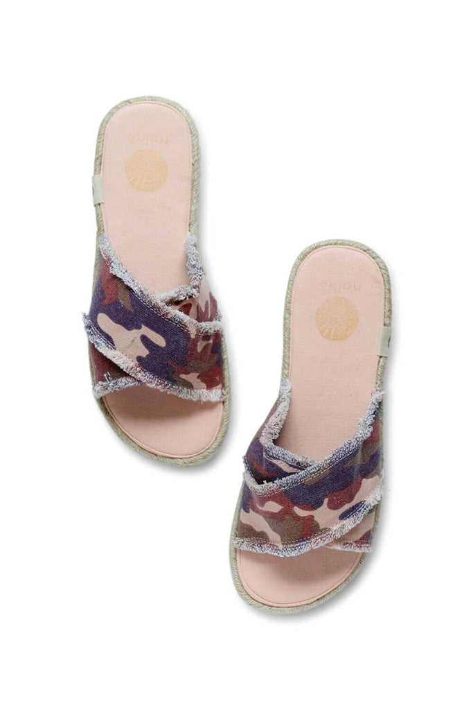 Kamala Flatform Camo Sandals with Yoga Mat Soles