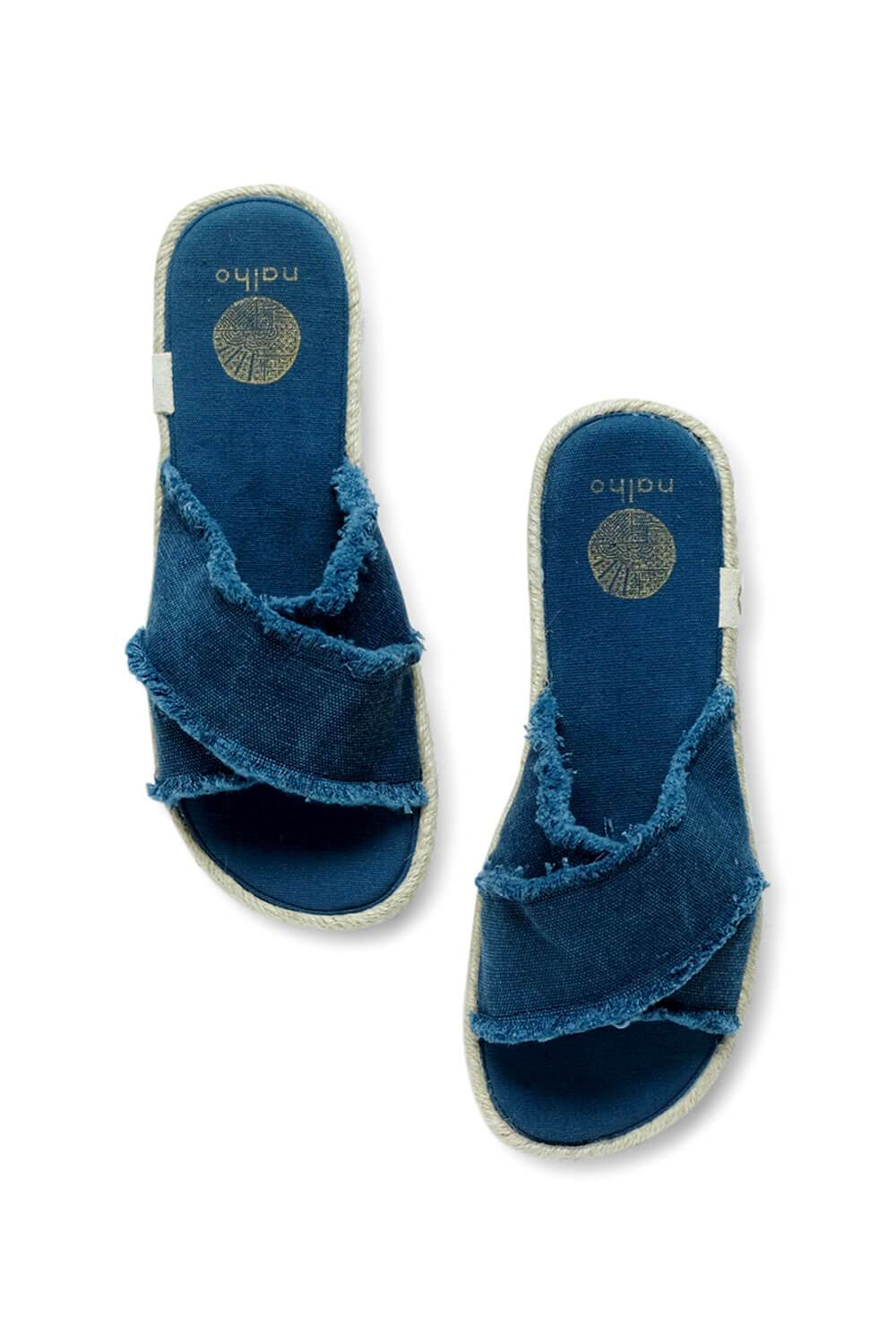 Kamala Flatform Sandals with Yoga Mat Soles blue MILK MONEY