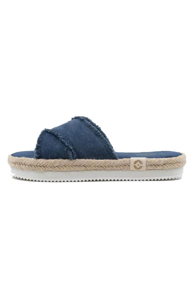 Kamala Flatform Sandals with Yoga Mat Soles blueberry side MILK MONEY