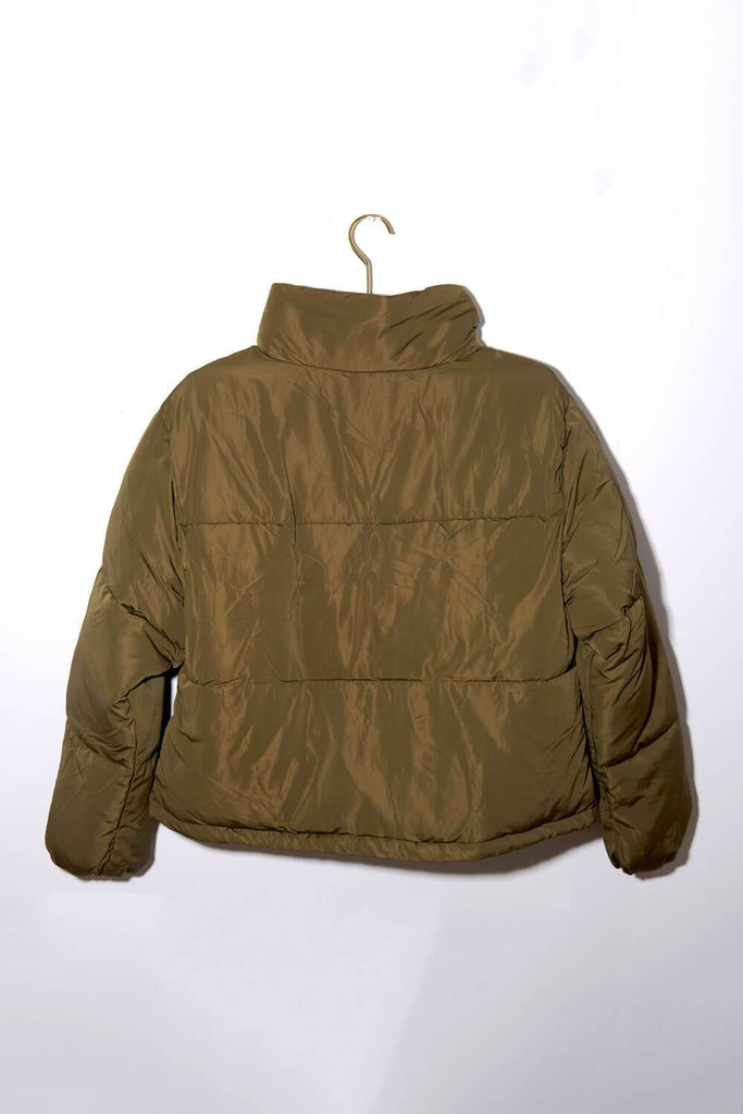 Keene Weekend Puffer Jacket olive back MILK MONEY