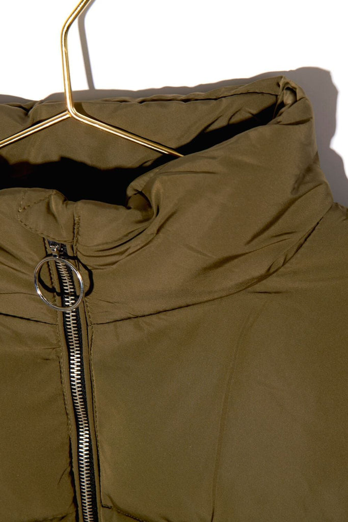 Keene Weekend Puffer Jacket olive detail MILK MONEY