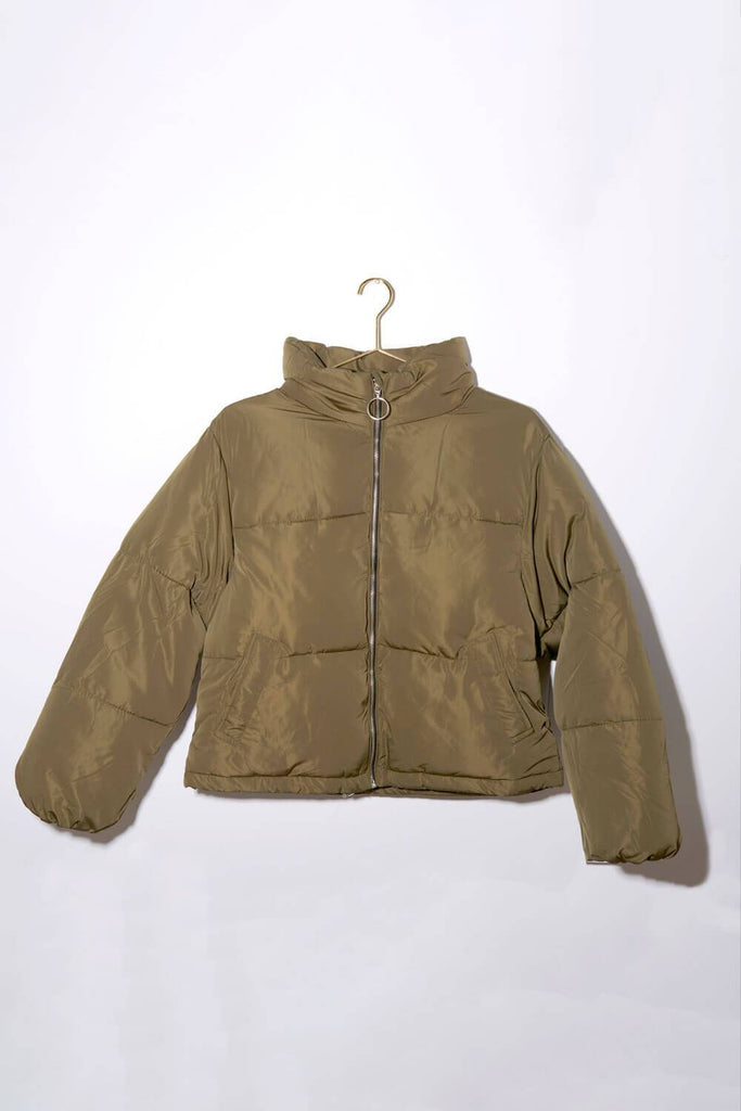 Keene Weekend Puffer Jacket olive front MILK MONEY