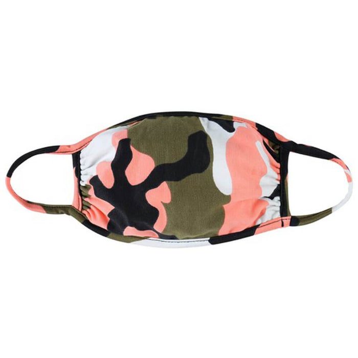 Kids Camo Protective Face Mask coral MILK MONEY