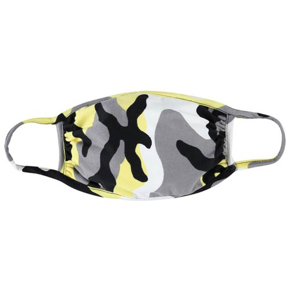 Kids Camo Protective Face Mask yellow MILK MONEY