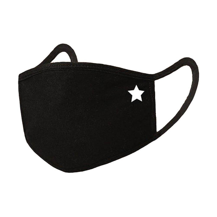 Kids Star Emblem Face Mask black MILK MONEY