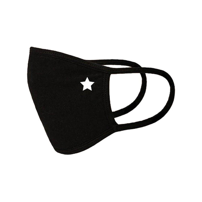 Kids Star Emblem Face Mask black side MILK MONEY