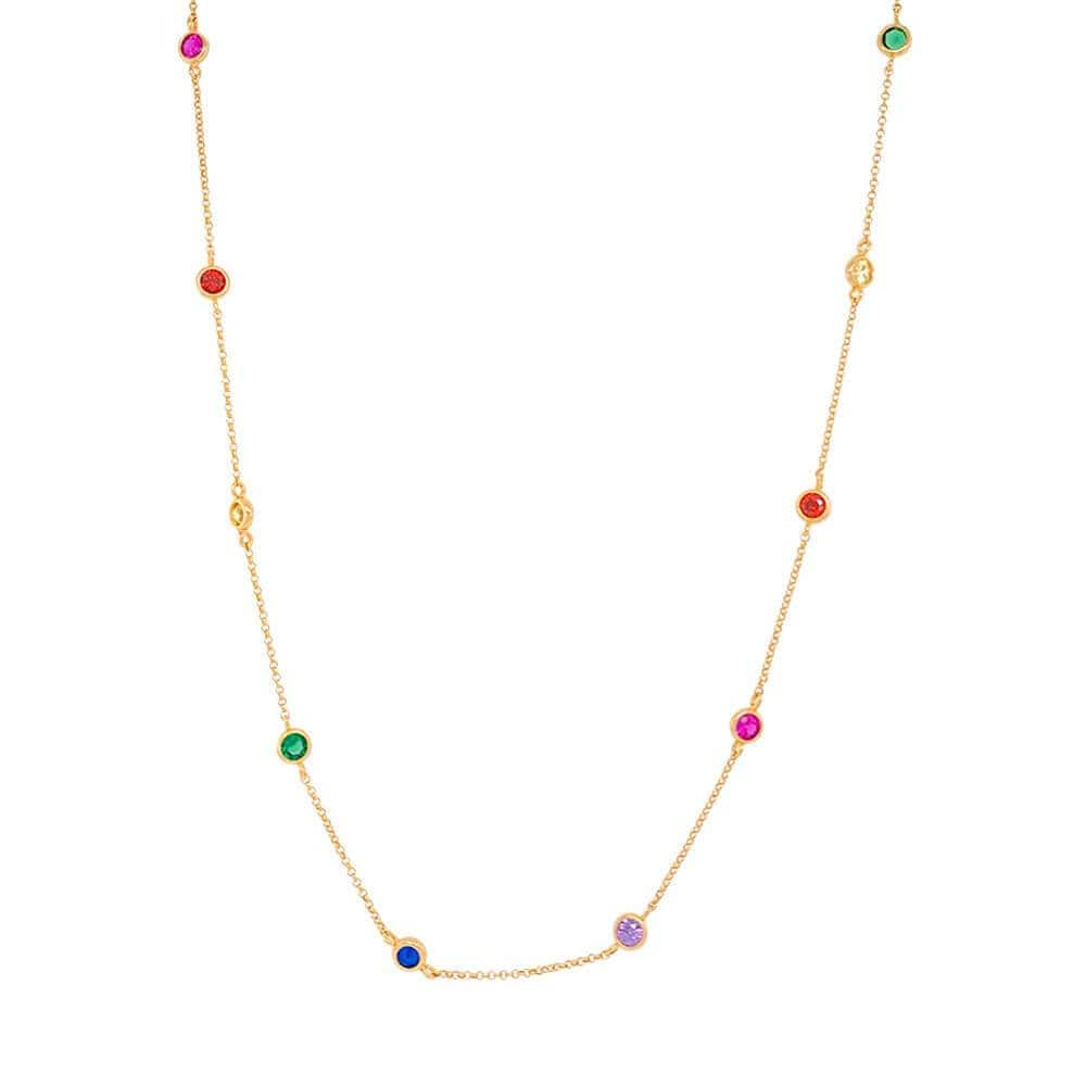 Kiss The Rainbow Crystal Necklace gold MILK MONEY
