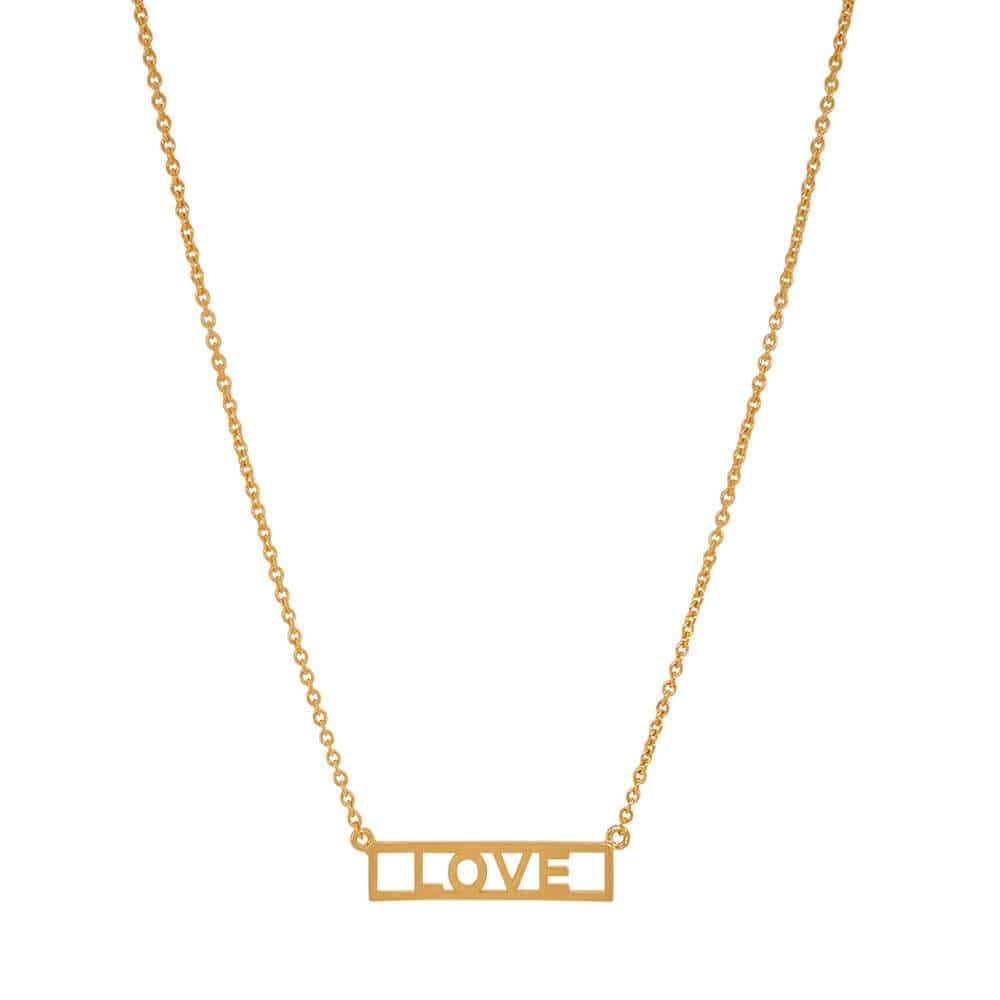 LOVE Plate Layering Necklace gold MILK MONEY