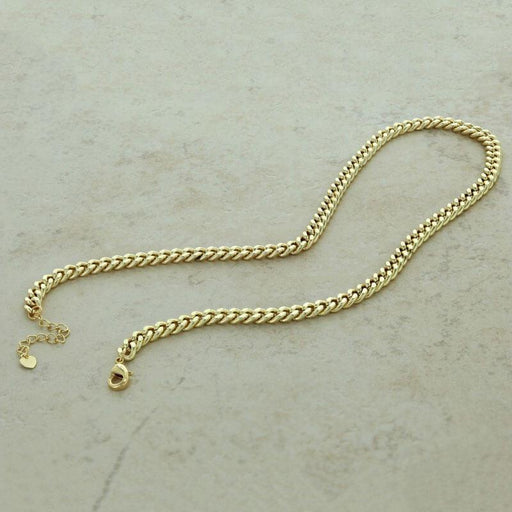 Lara Cuban Chain Necklace gold open MILK MONEY