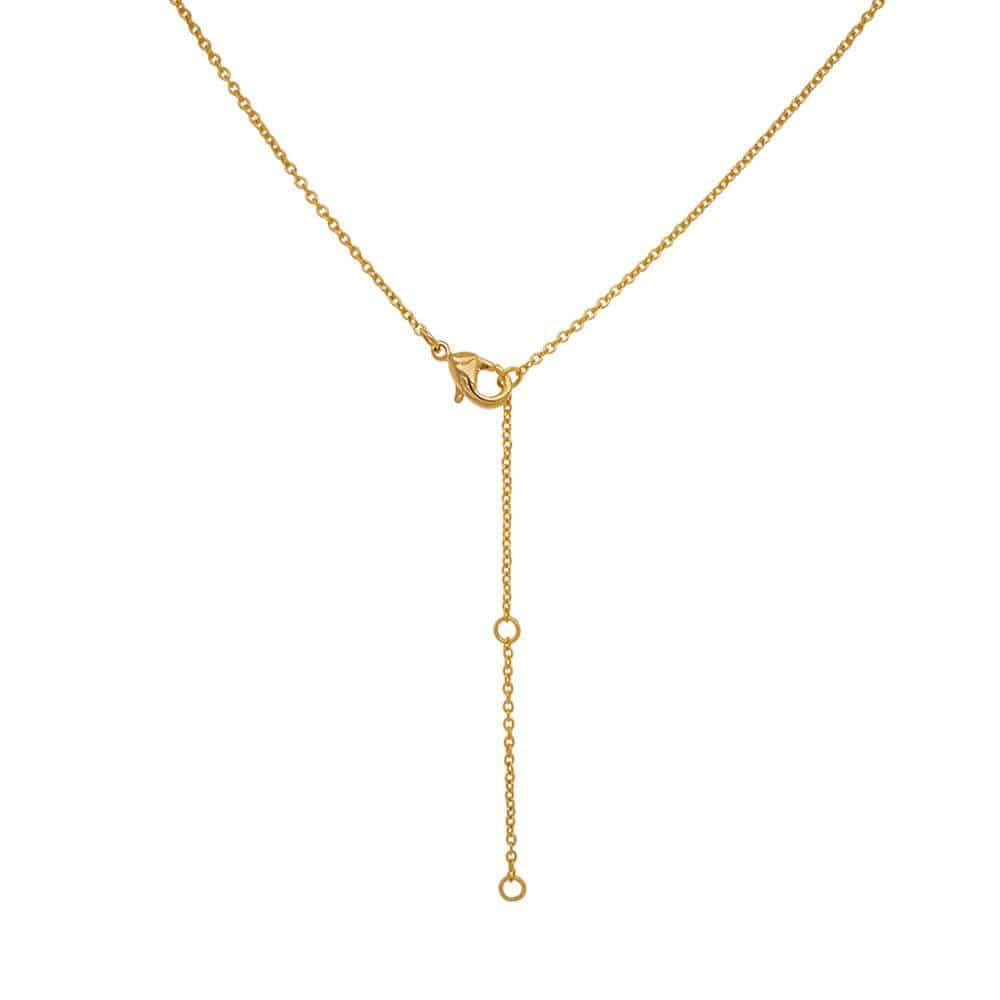 Layered Star Pave Necklace gold back MILK MONEY
