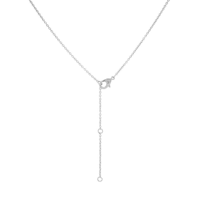 Layered Star Pave Necklace silver back MILK MONEY