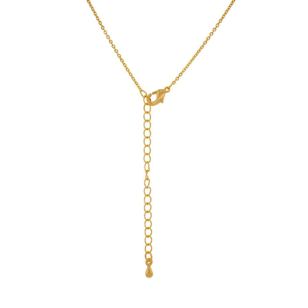 Layering Lips Necklace gold back MILK MONEY