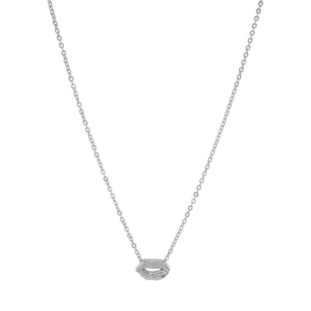 Layering Lips Necklace Silver MILK MONEY