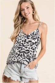 Leopard Print Summer Tank Top brown MILK MONEY