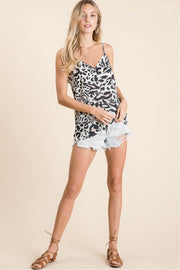 Leopard Print Summer Tank Top brown full body MILK MONEY