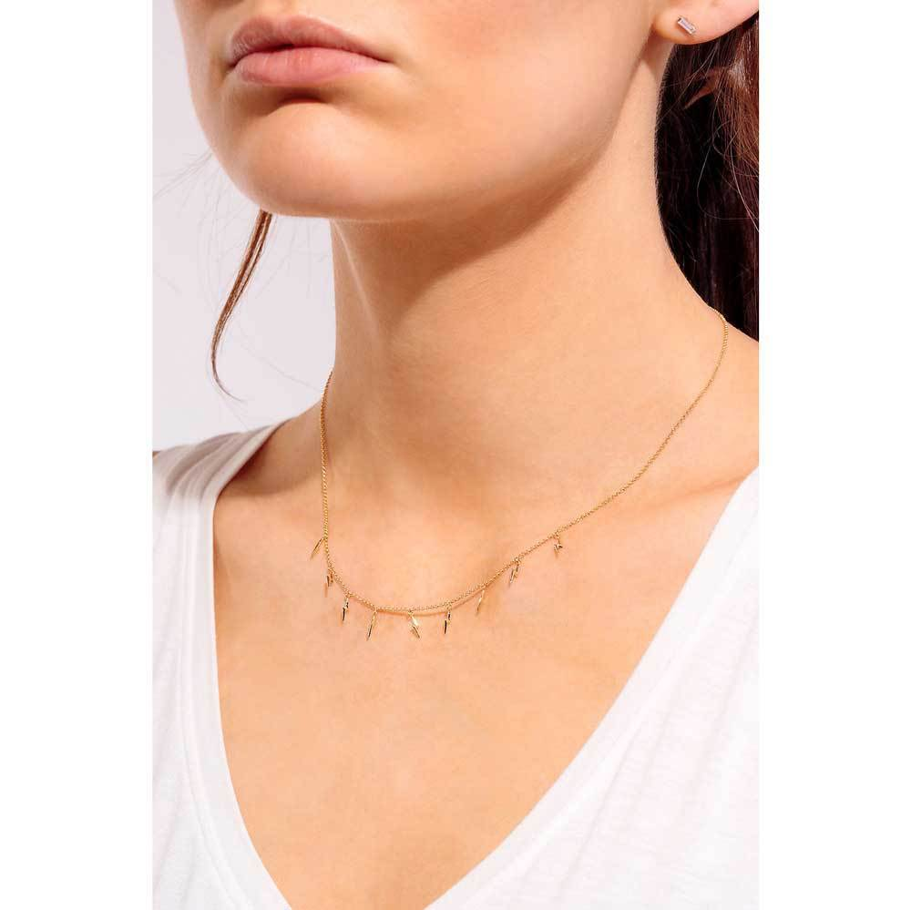 Lighting Bolts Layering Necklace Gold model - MILK MONEY