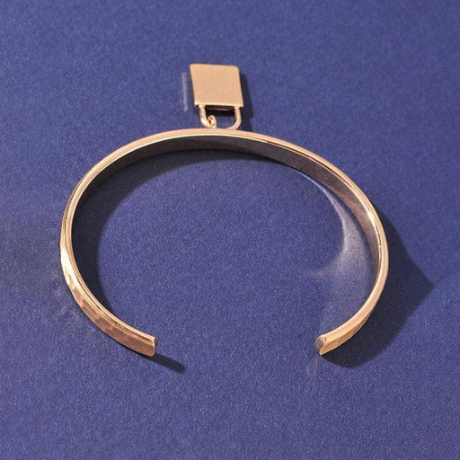 Lock It Up Girl Cuff Bracelet gold back MILK MONEY