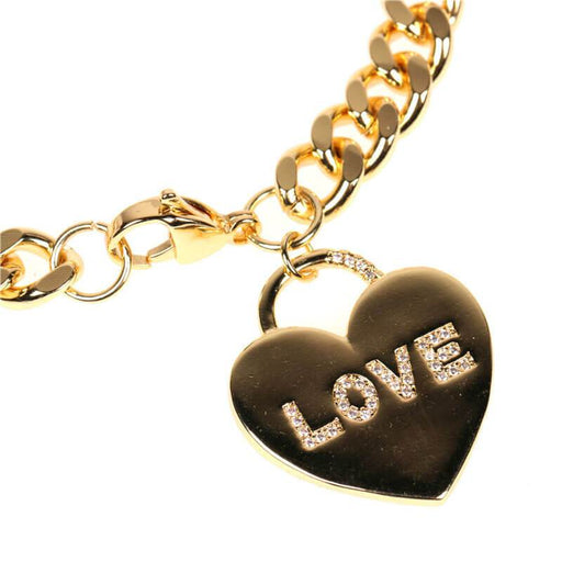 Love Hearted Charm Bracelet gold detail | MILK MONEY | milkmoney.co