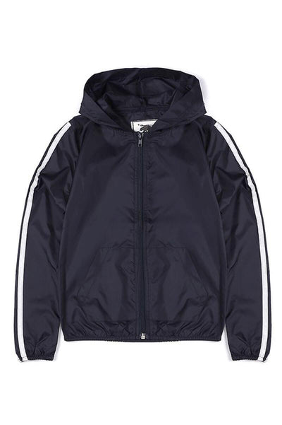 Love Reflective Windbreaker Jacket navy front MILK MONEY