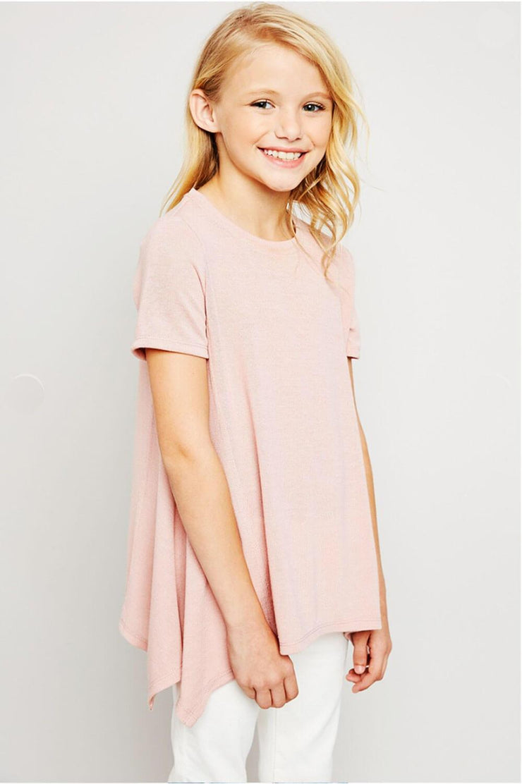 Lucy Long Tunic Top pink front MILK MONEY Kids