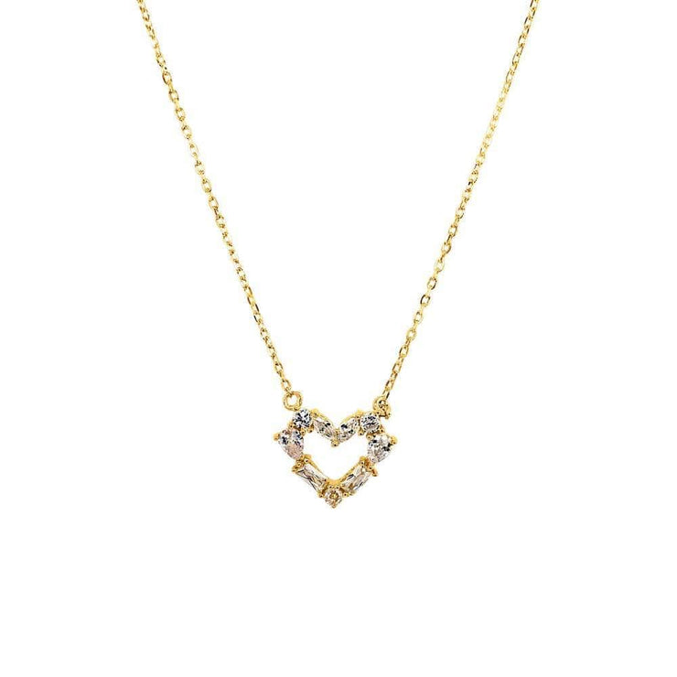 Luxe Heart Necklace Gold - MILK MONEY