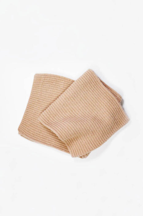 MILK MONEY Ribbed Daily Cashmere Blended Basic Scarf Camel