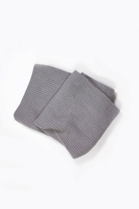 MILK MONEY Ribbed Daily Cashmere Blended Basic Scarf Grey