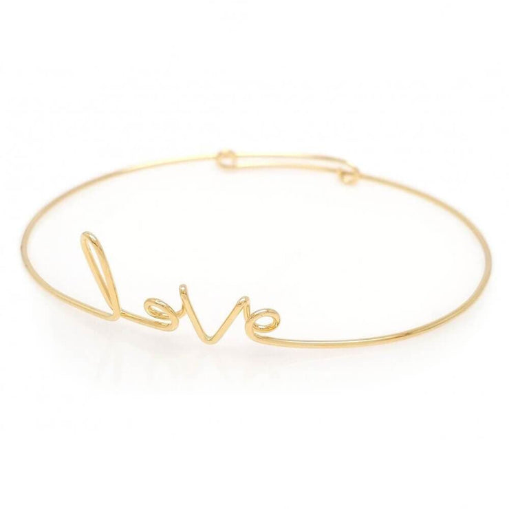 MILK MONEY Love Script Layering Bracelet Gold