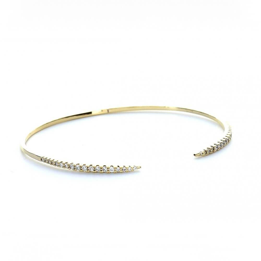MILK MONEY Titan Pavé Layering Cuff Bracelet Gold