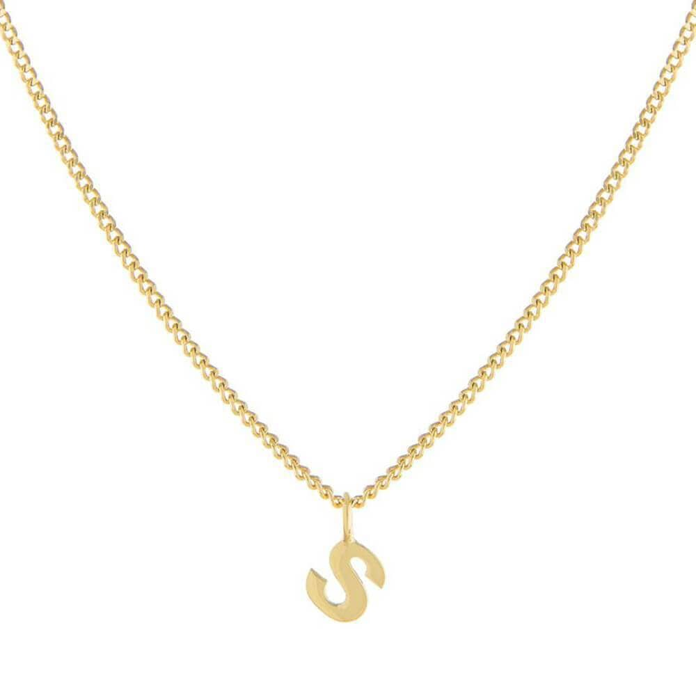 Single Initial Charm Necklace Gold _ MILK MONEY
