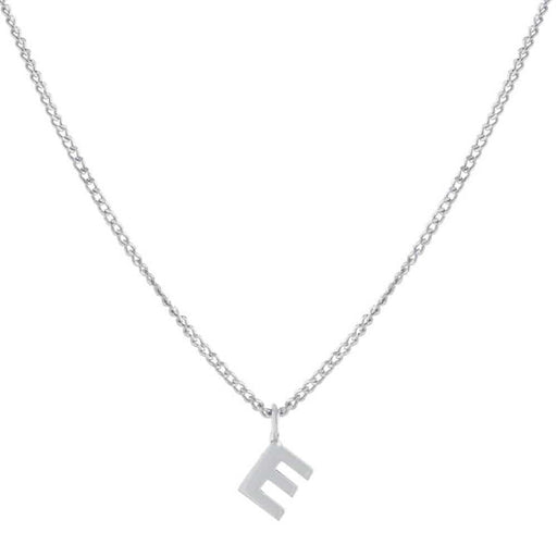 Single Initial Charm Necklace Silver - MILK MONEY