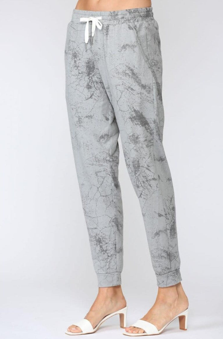 Marble Tie Dyed Joggers grey side MILK MONEY