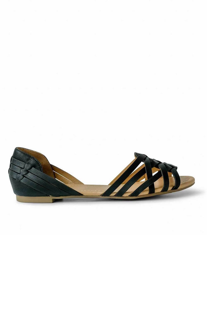 Marina Sandal Black side - MILK MONEY